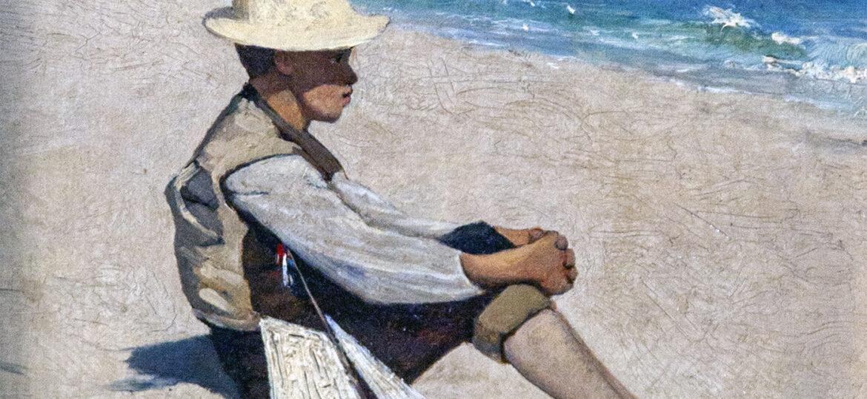 George Willoughby Maynard (1843-1923) : Boy on beach, 1876.