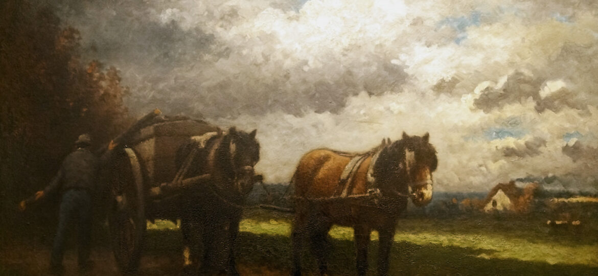 Frank Russell Green (1856-1940) : Horse and cart, 1899.