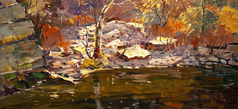 Antonio Cirino (1889-1983) : Reflections in the water, ca.1900s.