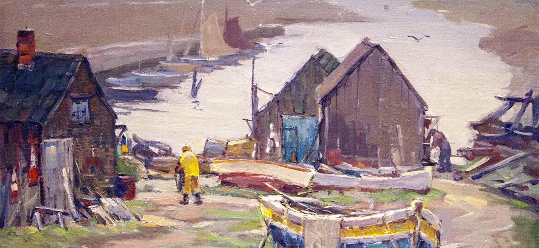 Antonio Cirino (1889-1983) : Boatyard, ca.1900s.