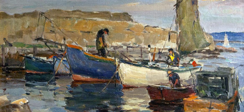 Antonio Cirino (1889-1983) : Sheltered cove, ca.1900s.