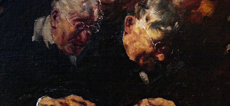 "Johann ""John"" Robert (Krabach) Grabach Jr (1886-1981) : Betend [German for praying], ca.1900s."