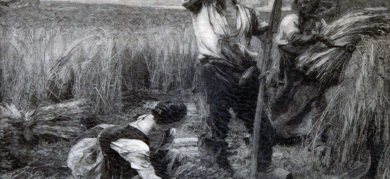 William George Watt (1867-1924) [RA 1903-1924] : Copy after Three figures at harvest by Léon Augustin Lhermitte (1844-1925) [NM] 1905.