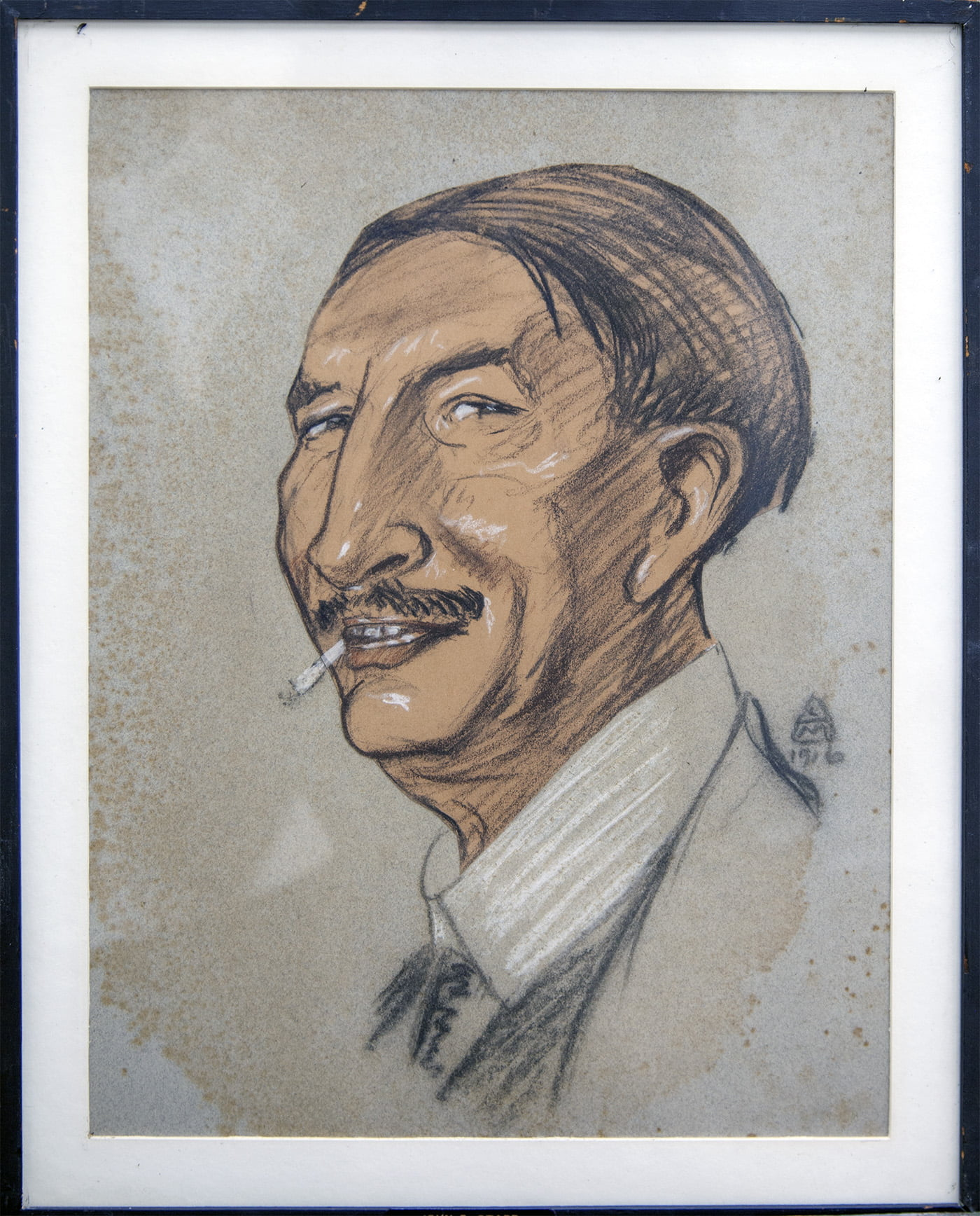 Leo Mielziner (1869-1935) [RA 1912-1935] : Caricature of John Edwin Starr (1860-1931) [RL 1897-1931], 1916.