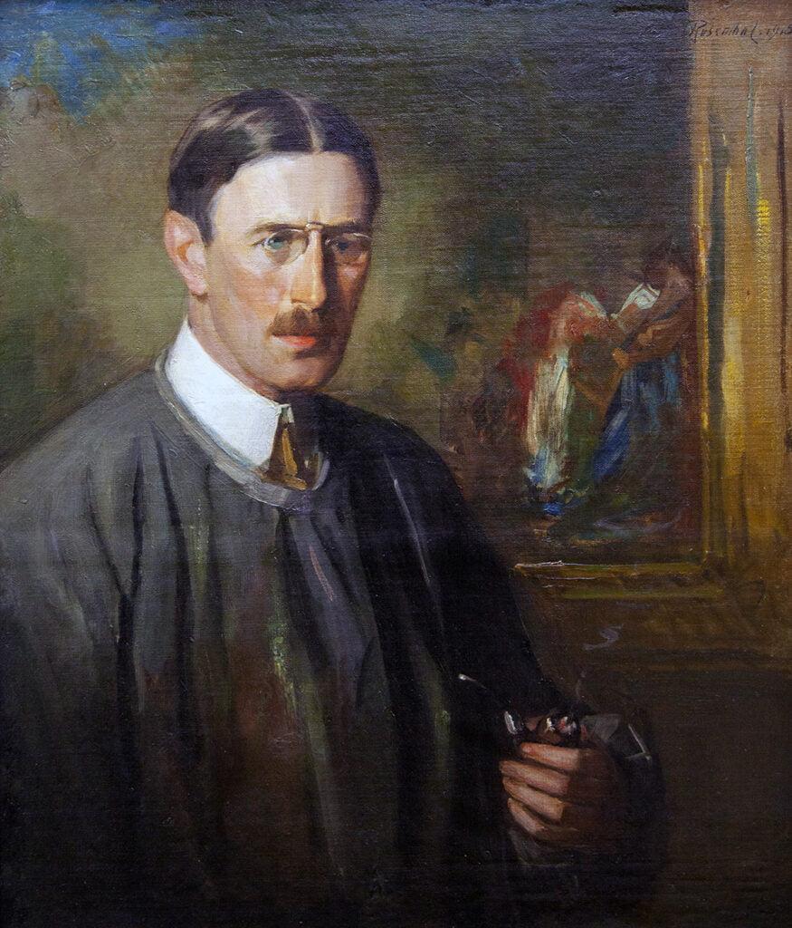 Albert Rosenthal (1863-1939) [RA 1914-1939] : Presidential portrait of Frederick Ballard Williams (1871-1956) [H RA 1898-1956], 1918.