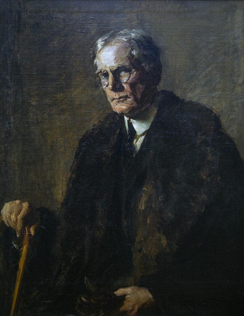 Ernest Ludwig Ipsen (1869-1951) [RA 1917-1951] : Presidential portrait of Charles Vezin (1858-1942) [RA 1902-1942], 1919.