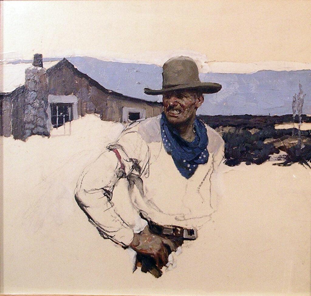 Dean Cornwell (1892-1960) : Homesteader, 1920s.