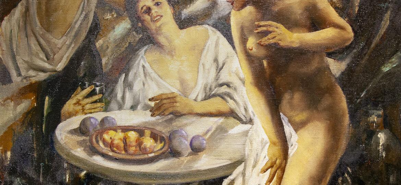 """Johann """"John"""" Robert (Krabach) Grabach Jr (1886-1981) : Peaches, ca.1920s."""