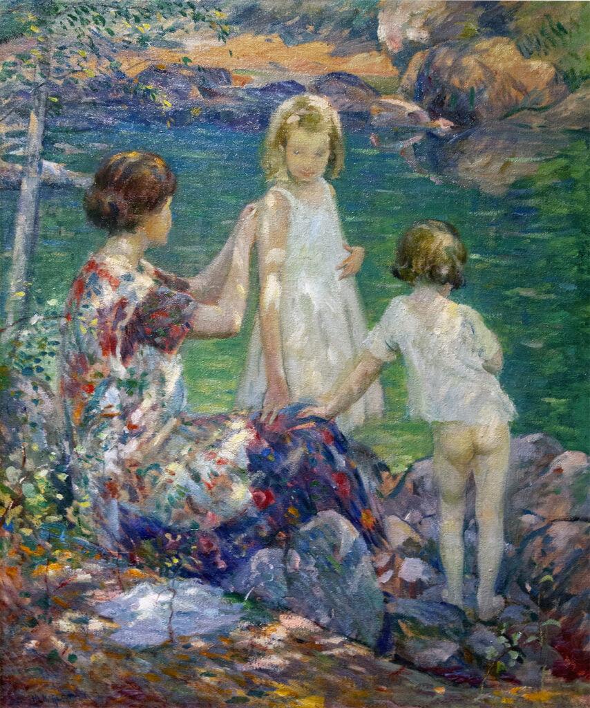 Howard Logan Hildebrandt (1872-1958) : Mother and two girls, ca.1920.