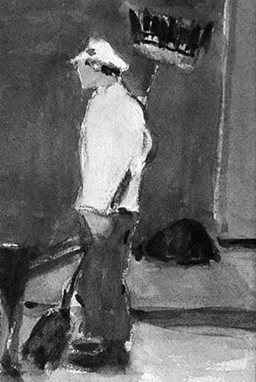 John Alonzo Williams (1869-1951) : Street sweeper, ca.1920s.