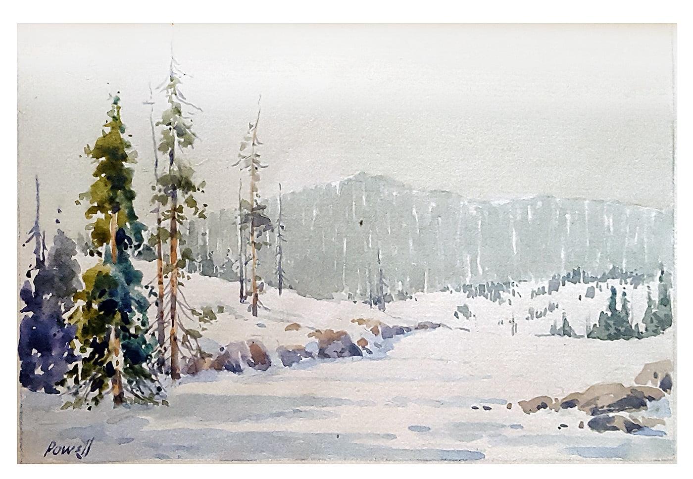 Arthur James Emery Powell (1864-1956) : [untitled winter scene], ca.1921.
