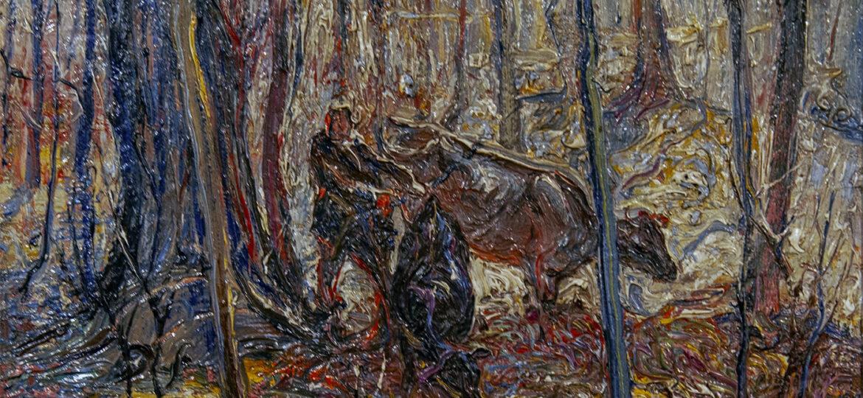 John Edward Costigan (1888-1972) : Cows and figures, ca.1923.
