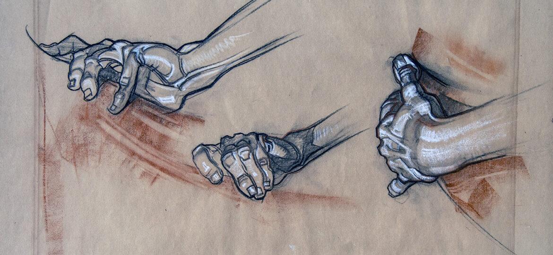 2007.467 Charles Dean Dan Cornwell 1892-1960 Study of hands ca1930s