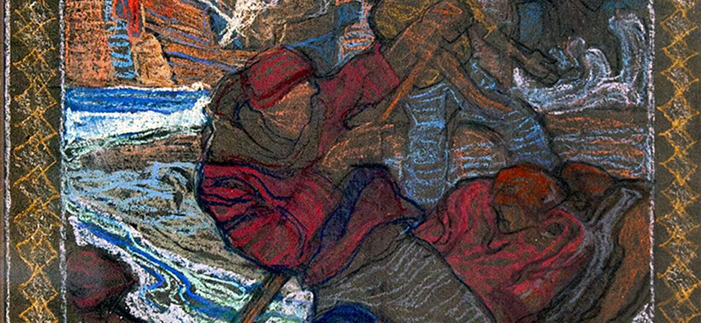 """(Charles) Dean """"Dan"""" Cornwell (1892-1960) [RA 1926-1960] : Mural study #2, ca.1930s."""
