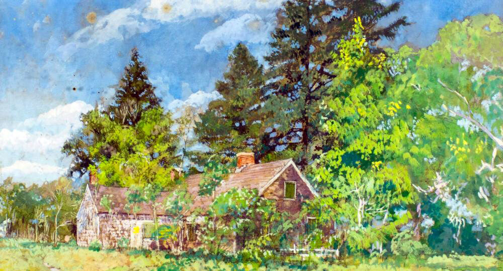 """Raymond """"Ray"""" K Perry (1876-1960) : Swezey house, LI (#112), 1936."""