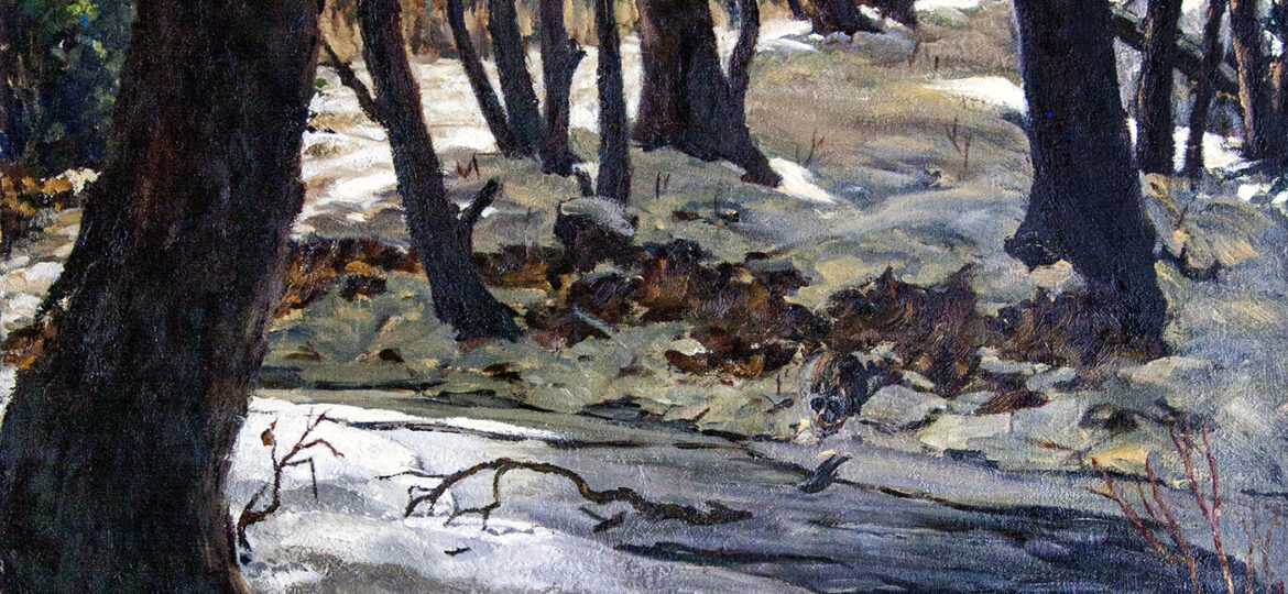"""Russel """"Russ"""" Frederick Rypsam (1904-1992) : [untitled] woods, ca.1940s."""