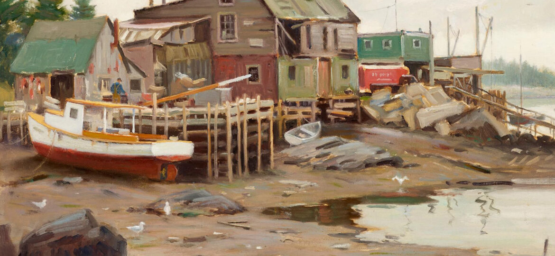 Junius Allen (1898-1962) : Low tide, port Clyde (#43), ca.1958.