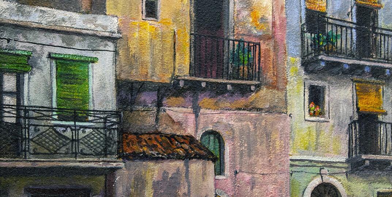 Ralph Fabri (1894-1975) [RA 1945-1975] : Taormina, Sicily, 1965.