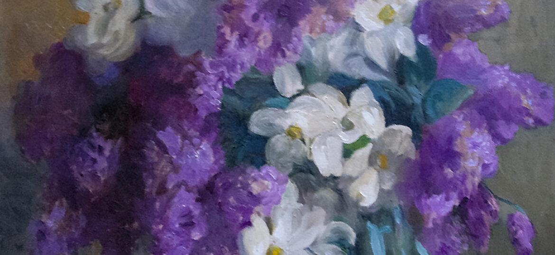 Alphaeus Philemon Cole (1876-1988) [RA 1918-1960] : A touch of spring, 1968.
