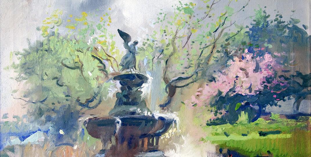 Frank Herbert Mason (1921-2009) [RA 1960-2009] : Bethesda fountain, ca.1992.