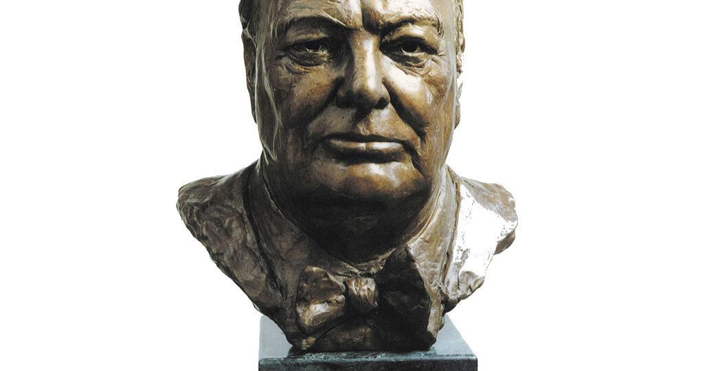 Marc Richard Mellon (b.1951) : Portrait bust of Winston Leonard Spencer Churchill (1874-1965),1998.