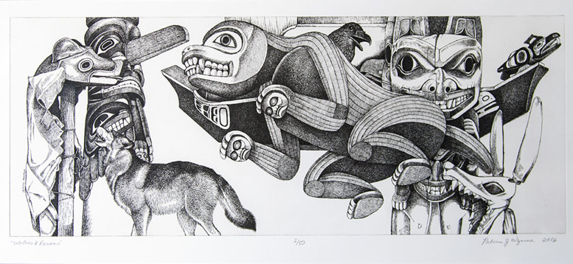 Patricia J Wynne [RA 2010] : Wolves and ravens, 2016.