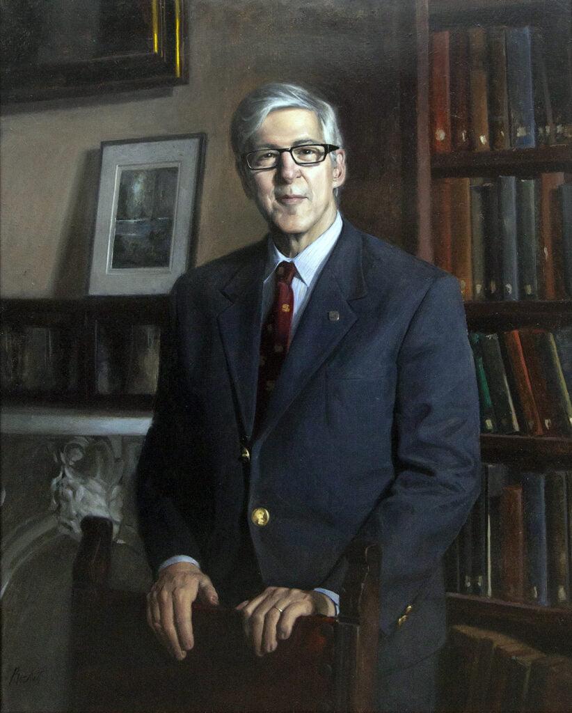 "Edmond ""Eddie"" Paul Rochat III [RA 2017] : Presidential portrait of Robert Warren Pillsbury [RA 2001-2019, EM RA 2019], 2018."