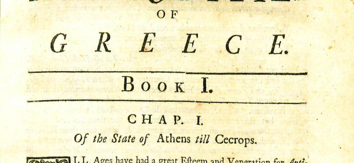 Archaeologia Graeca, or the antiquities of Greece : containing, i. the civil government of ... athens.
