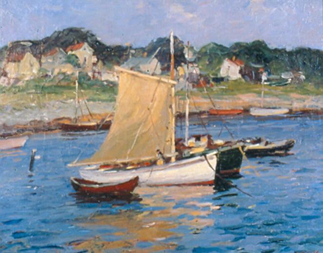 Antonio Cirino (1889-1983) : Fisherman boats and shacks, ca.1900s.