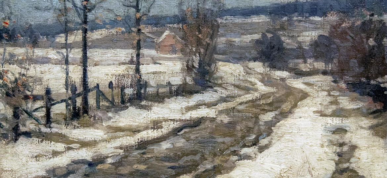 John Fabian Carlson (1875-1945) : Winter landscape, ca.1930s.