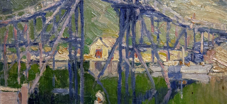 Walter Farndon (1876-1964) : River scene, ca.1900s.