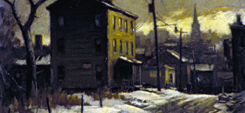Junius Allen (1898-1962) : Winter landscape, ca.1935.