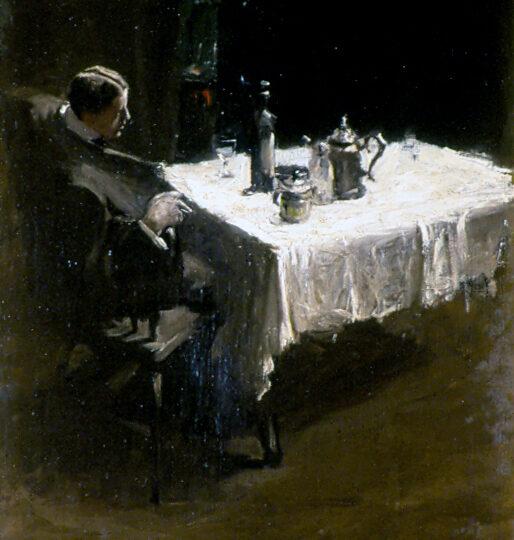 Charles Webster Hawthorne (1872-1930) : Alone, ca.1915.