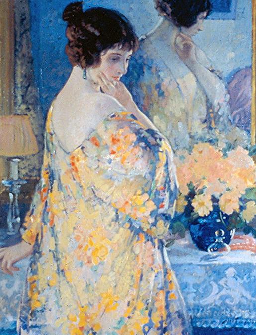 Frank Howard Desch (1873-1934) : La robe de boudoir, ca.1919.