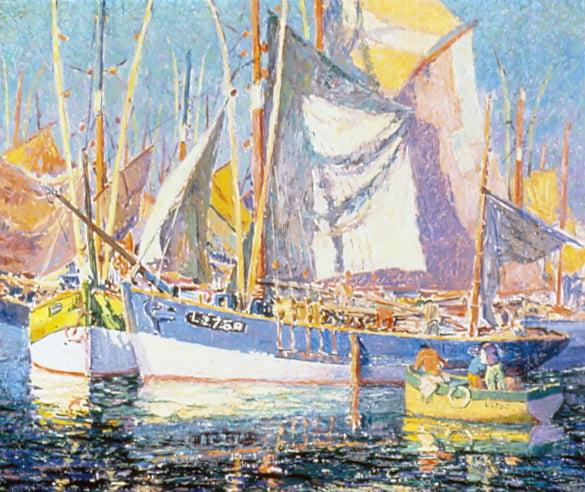 Sigurd Skou (1875-1929) : In harbor, 1928.