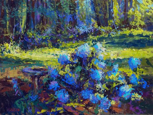 Maria Marino [NRA 2012] : Late afternoon in the garden, ca.2020.