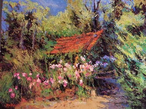 Maria Marino [NRA 2012] : The garden pastel, ca.2020.