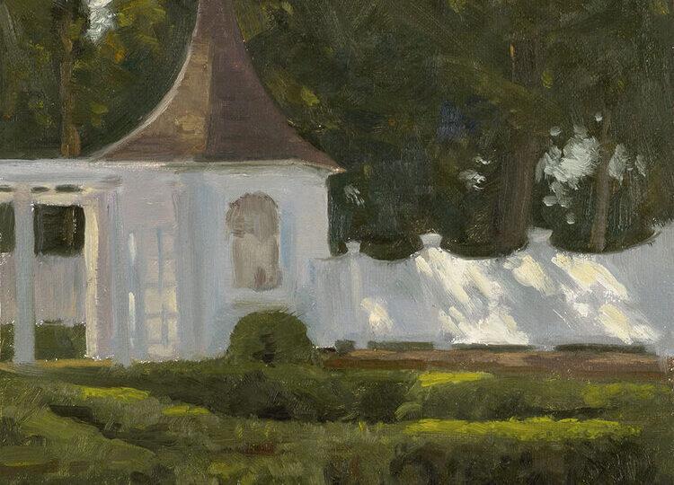 Patrick Okrasinski (b.1996) : The tea garden, ca.2020.