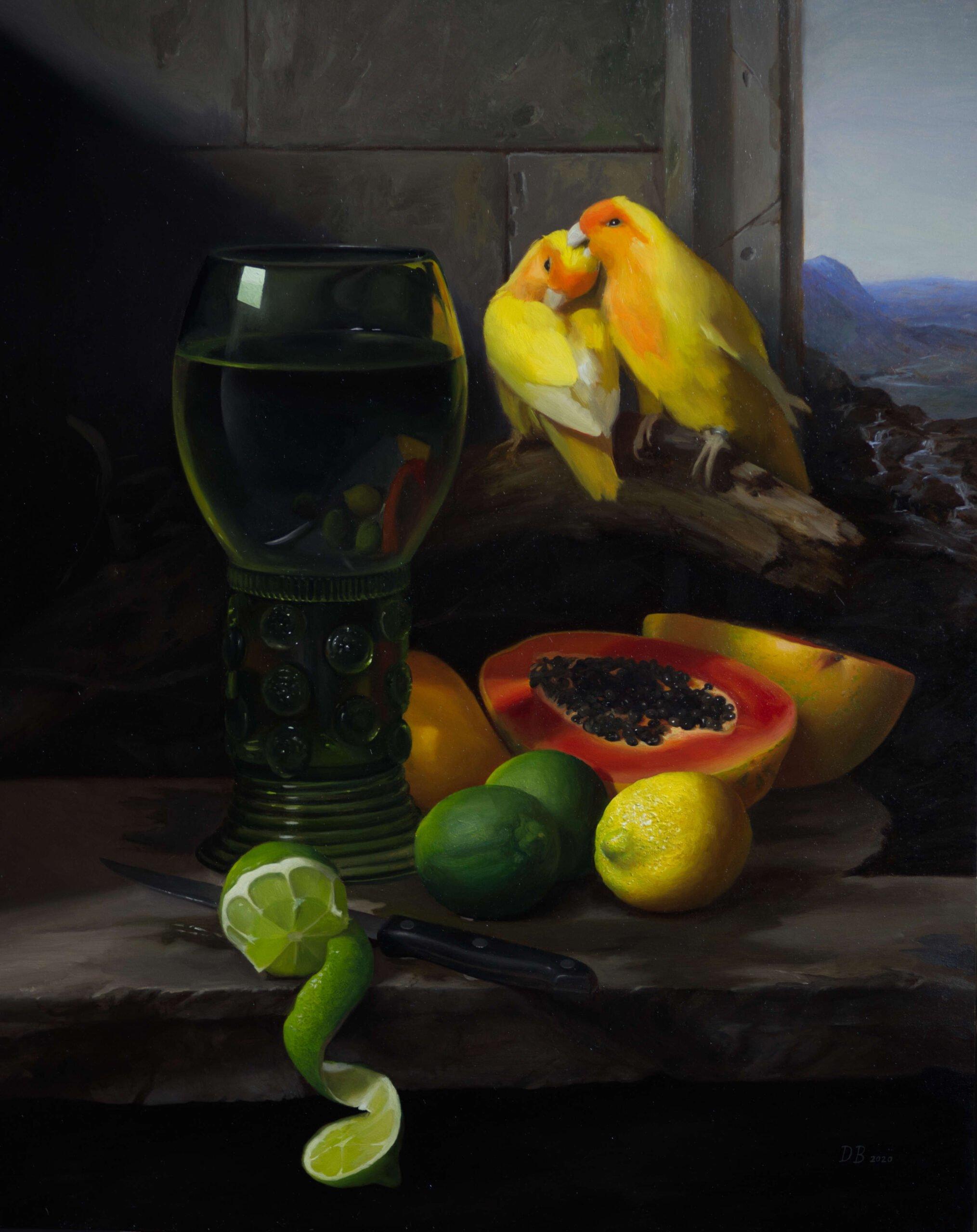 Dan Bunn (one) (b.1991) : Love birds, ca.2020.