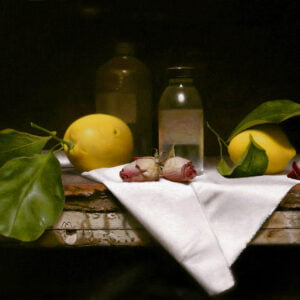 Carlos Madrid (b.1950) : Composition with lemons, 2000s.