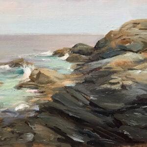 John A Varriano (b.1962) : Pemaquid Point, 2000s.