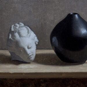 Liz Beard (b.) : Head and vase, 2000s.