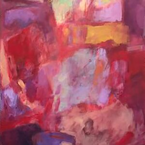 Susan M Rostan (b.) : Over red #1, 2020.