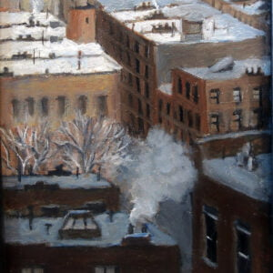 Carole Teller (b.) : Rooftops in snow, 2000s