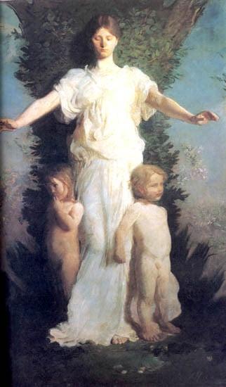 Allegorical Figure by Abbott Thayer