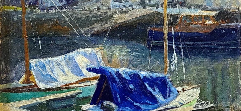 Dylan Gillespie (b.1993) : Dock in Vannes, 2020.