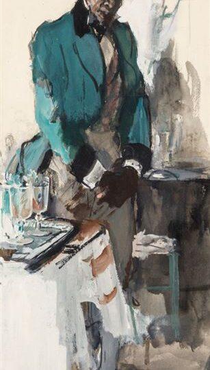 Dean Cornwell (1892-1960) : Waiting, 1922.