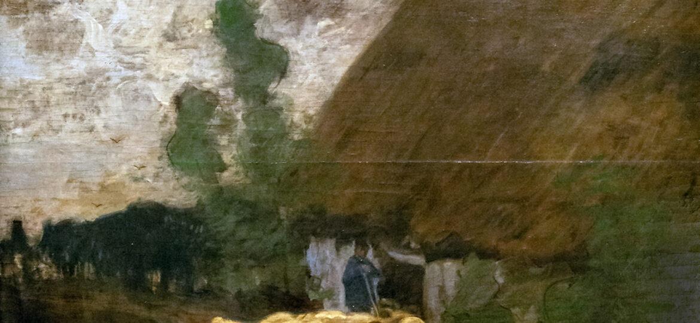Louis Paul Dessar (1867-1952) : [untitled] (Leaving the fold), 1899.