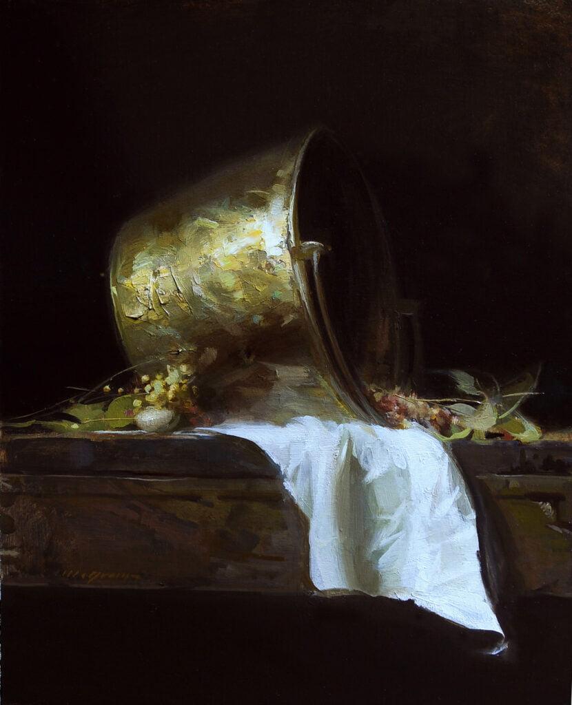 Sherrie McGraw (1954-) : The brass pot, ca.2000s.