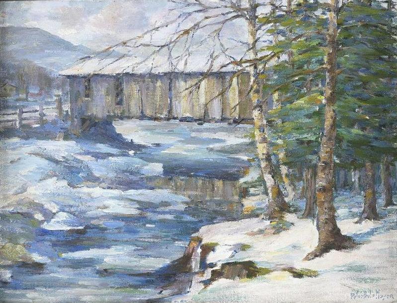 Peter Béla Mayer (1887-1993) : Winter's charm (#8), ca.1976.